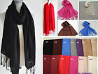 100% Wool Soft Lady Unisex Warm Winter Pashmina Long SCARF SHAWL Many Colors