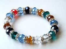Mesdames multi couleur bracelet avec crystal pierres vente!!!
