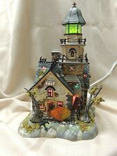 Dept 56 Halloween Shipwreck Lighthouse #55088 Retired w/Light  & w/Box