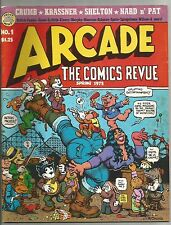 ARCADE THE COMICS REVIEW #1 R CRUMB Bill Griffith Art Spiegelman SPAIN G Shelton