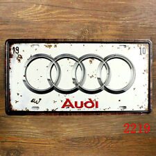 AUDI LICENSE CAR PLATE Vintage Tin Sign Bar pub home Wall Decor