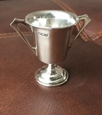 Vintage Hallmarked Silver Miniature Trophy Cup - Harrison Brothers- Sheff 1933