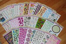 Huge Lot 26 different pkgs Miss Elizabeths Double Alphabet Stickers & More - New