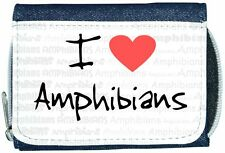 I Love Heart Amphibians Denim Wallet