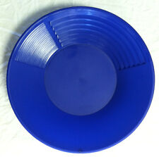 14 Inch 3 STAGE BLUE GOLD PAN extra riffles 4 fine gold
