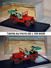 ATLAS-Tim und Struppi-TINTIN CAR-Jeep Willys MB 1943-AU PAYS DE L´OR NOIR-Modell