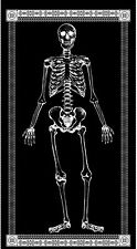 Glow in the Dark Skeleton Gothic Wicked By The Panel Cotton Fabric 24x44in