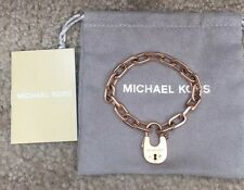 ## FLASH SALE ##  $125 NWT MICHAEL KORS ROSE-GOLD Padlock Bracelet MKJ4629791