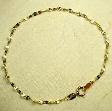 14k solid yellow gold lightweight 7 inches star link, strong, sparkly bracelet