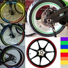 Blue Reflective Motorcycle Bicycle Bike Rim Tape Bike Wheel Stickers Decal Vinyl