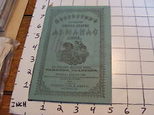 Vintage Early Paper: ALMANAC: 1881 Hostetter's illustrated, 36pages, light wear
