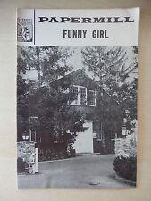 Oct./Nov. 1967 - Paper Mill Playhouse Theatre Playbill -Funny Girl - Minkus