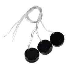 3pcs Schwarz Wire Lead CR2032 Knopfzelle Button Batterie Halter Case ET