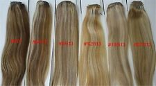 "Alexxis 18"" Clip in Human Hair Extensions 10pcs 100g, Silky Straight + Colors"