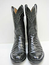 Lucchese CL7810 Roper Crocodile Belly Skin 8.5 D Men's Boots.