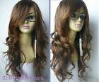 New long Brown Fashion Wavy hair Wig + Free wig cap NO:A22