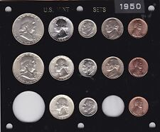 1950 P-D-S US Silver Mint set-13 coins- Brilliant Uncirculated in Capital holder