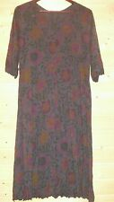 GUDRUN SJODEN STRETCH  MICROMODAL DRESS SZ L  FLORAL PLEATED DETAILS