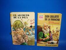 Libro EL SECRETO DE LA ISLA y DON QUIJOTE DE LA MANCHA  2 libros juveniles
