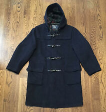 Vintage Burberry Duffle Coat Size 44 Wool Made In England VG Condition Toggle