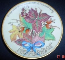 Davenport Limited Edition NOVEMBER Collectors Plate Edith Holden