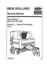 NEW HOLLAND ROUND BALER 630 640 650 & 660 WORKSHOP SERVICE MANUAL