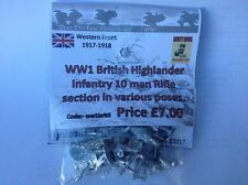 EWM Ww1brit05 1/76 Diecast WWI British Highland Infantry 10 Man Rifle Section