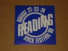 Reading Rock Festival 1980 unused Promo Sticker (Rory Gallagher/Iron Maiden/UFO)