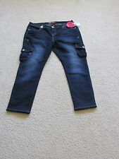 NEW WITH TAGS WOMEN'S APPLE BOTTOM DARK BLUE JEANS SIZE 16 STRETCH SKINNY ANKLE