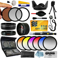 25 Piece Advanced Lens Kit for the Nikon D50 D60 D70 D90 D80 Digital SLR Cameras