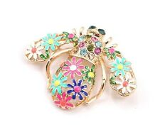 Flowers Bumble Bee Brooch Pin Crystal Gold Plated New Women New