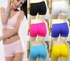 NEW Seamless Basic Plain Solid Cotton Stretch Pants Athletic Yoga Fitness Shorts