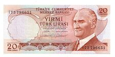 Turchia 20 turk lirasi 1970 FDS UNC  pick 187 b lotto 2846