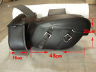 Black Motorbike Panniers Rider Leather Motorcycle universal Cruiser Saddle Bags