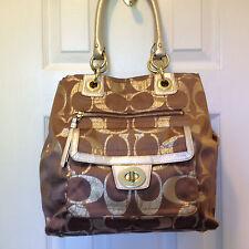 Coach Handbag Hampton Lurex Signature Tote K1077-F15691- MINT
