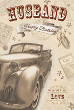 Nostalgic Husaband Happy Birthday With All My Love Car Design Lovely Card
