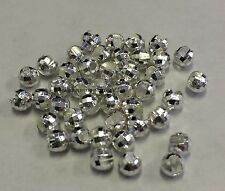 """TUNGSTEN SLOTTED DISCO FLY TYING BEADS SILVER 4.0 MM 5/32 """" 100 COUNT"""