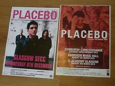 Placebo Scottish tour concert gig posters x 2