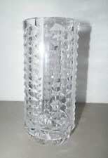 "WATERFORD CRYSTAL VASE CYLINDER ROUND TALL 8"" GOOD USED"