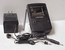 VINTAGE WORKING POCKETVISION 25 MINI TV CAT. NO. 16-162 W/ EARPIECE MEMOREX