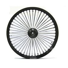 FAT SPOKE 21 FRONT WHEEL BLACK 21 X 2.15 HARLEY SOFTAIL FXSTB NIGHT TRAIN 00-06