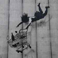 Banksy Trolley Falling A3 Box Canvas Print