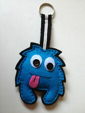 FANTASTIC Hand-crafted 'Spiky' keyring OR Bag Tag in Blue And Black