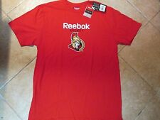 "OTTAWA SENATORS ""REEBOK"" T SHIRT (LG) NWT'S $30 RED W/REEBOK HOCKEY & TEAM LOGO!"