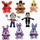 NEW 8Pcs Hot FNAF Five Nights at Freddy's Chica Bonnie Foxy Plush Doll Toys Gift