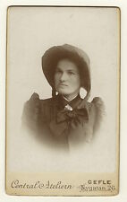 PORTRAIT OF A YOUNG SALVATION ARMY WOMAN IN GEFLE (GAVLE), SWEDEN   (CDV)