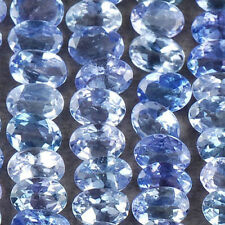 A PAIR OF VERY RARE 4x3mm OVAL-FACET PURPLE/BLUE NATURAL TANZANITE GEMSTONE