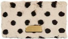 Marc by Marc Jacobs Too Hot to Party White Black Polka-Dot Fur Fold Clutch $458