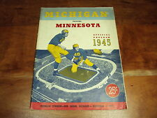 1945 Michigan Wolverines vs Minnesota Gophers Offical NCAA Program EX/EX+ Cond.