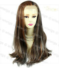 AMAZING Lace Front Wig Blonde & Brown & Red Straight Long Ladies Wigs UK